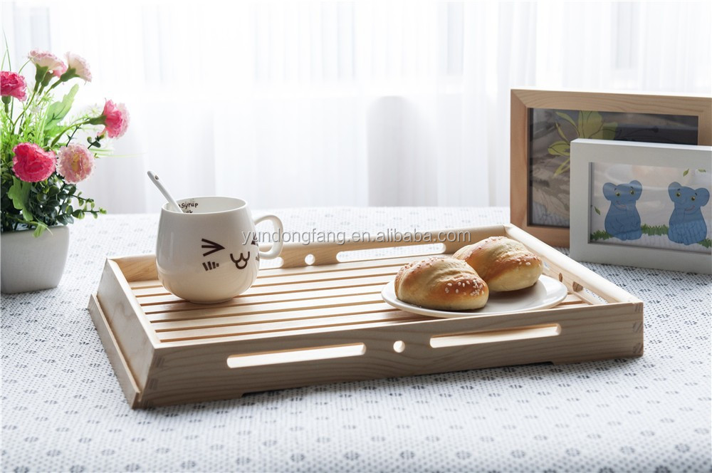top quality wholesale handmade antique wood tray for Tea Art
