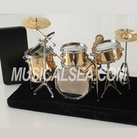 High Quality Miniature wooden drum and educational drum toy musical instrument model craft