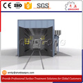 sand blasting booth/room for train surface cleaning