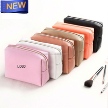 Custom PU leather cosmetic bag makeup young girl toiletry bag