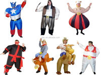 COWBOY, SUPERHERO, BULLRIDER, NINJA, FAT ELVIS INFLATABLE FANCY DRESS COSTUMES