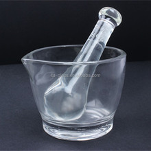 China factory 8OZ soda-lime glass use of mortar with pestle