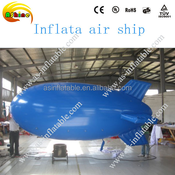 2016 Hot sale inflatable zeppelin helium balloon, zeppelin airship for advertising