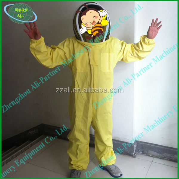 Beekeeping bee suit/jacket protective coat with hat and veil for complete protection