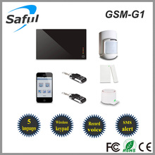 2014 new alarme wireless home gsm sms home burglar security alarm system 315MHz/433MHz Saful GSM-G1