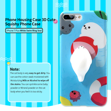 Phone Housing Case 3D Cute Squishy Phone Case For iPhone 6 7 Plus