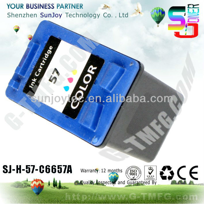 C6657A remanufactured INK cartridge for hp C6657A ink cartridge