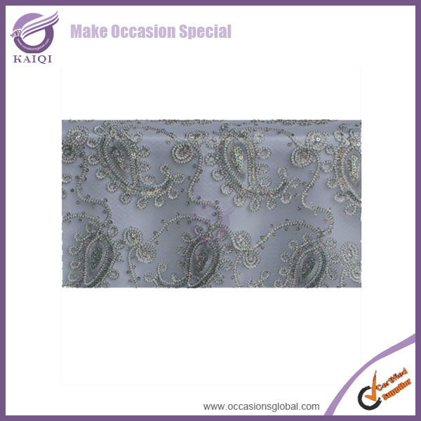 #19783-2 wholesale net sequins silver elegant fancy metallic beaded sequins 120 round wedding decoration tablecloth