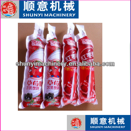 SD-8 soft tube plastic premade bag/plastic water filling sealing machine