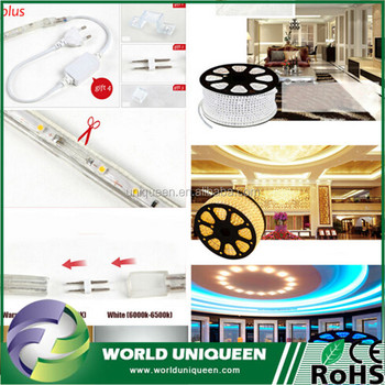 DHL Free Shipping 100M/Lot Outdoor Ip65 Waterproof 220V Led Strip 3014 SMD White Warm White Led Tape Light Super Bright
