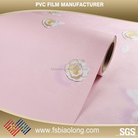 Welcome your own design custom decorative color soft pvc film for covering furniture