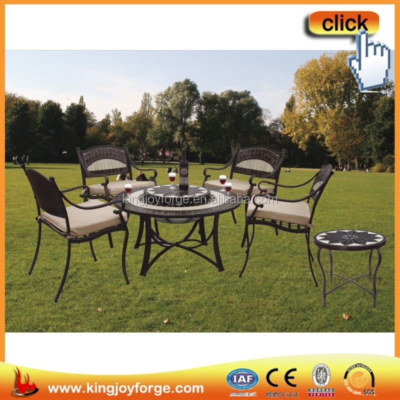 40 inch outdoor multifunctional ceramic tile fire pit table sets