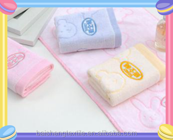 cheap seasonal promotion 100% cotton jacquard hand children small face baby towel