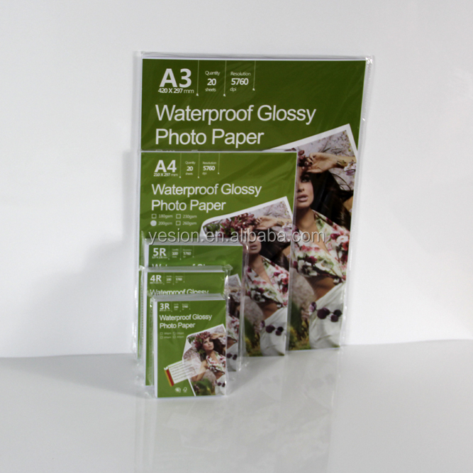 Cast coated A4 Glossy Photo Paper 180gsm,200gsm,230gsm 4R, A6, A4, A3