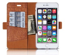 2016 New Style Wallet Design Wholesale waterproof and Stand PU Leather Flip Mobile Phone Case For iPhone 6s