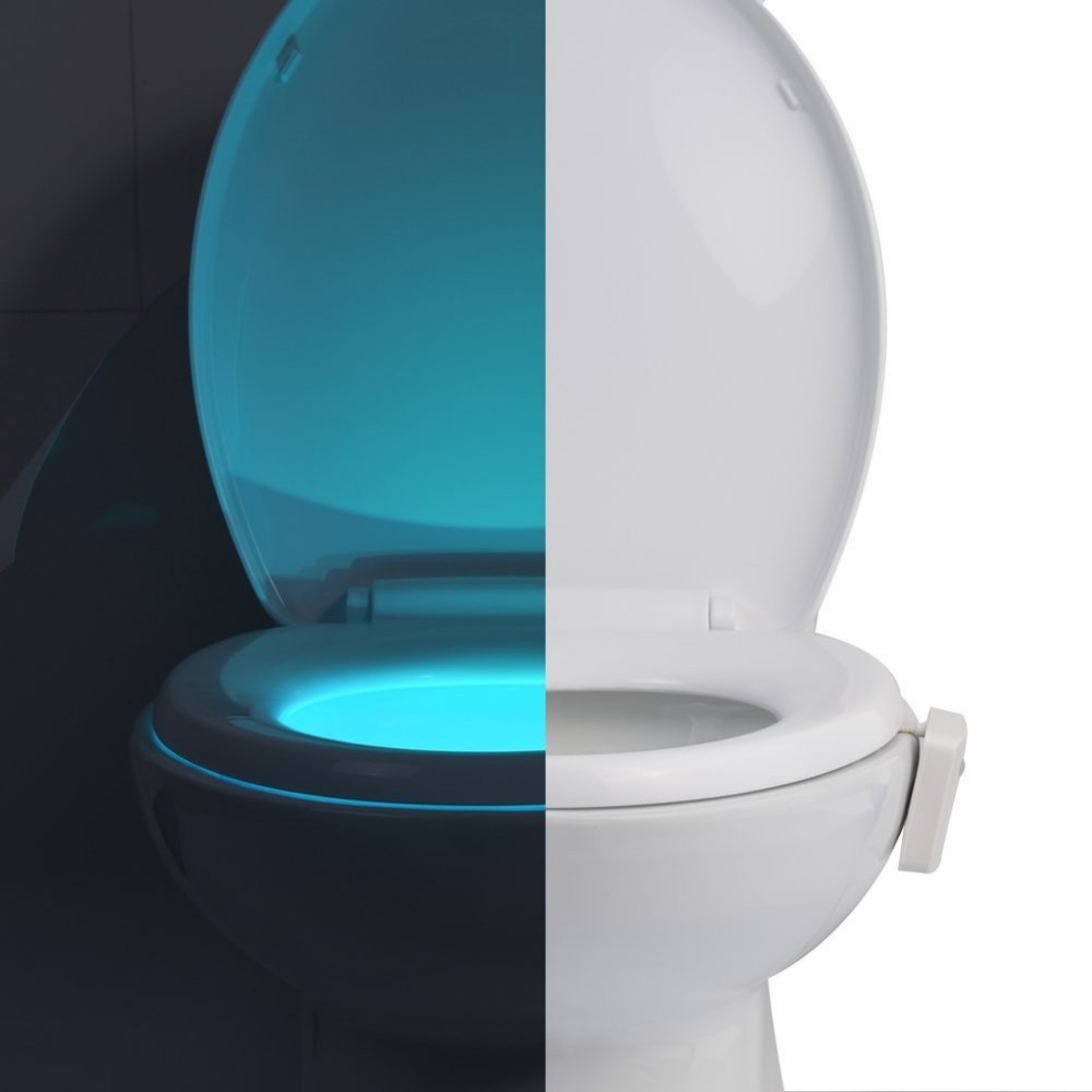 Sinohamm Advanced 16-Color Motion Sensor LED Toilet Light, Internal Memory, Light Detection