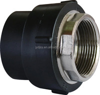 Female threaded bushing with hexagonal PE pipe fittings