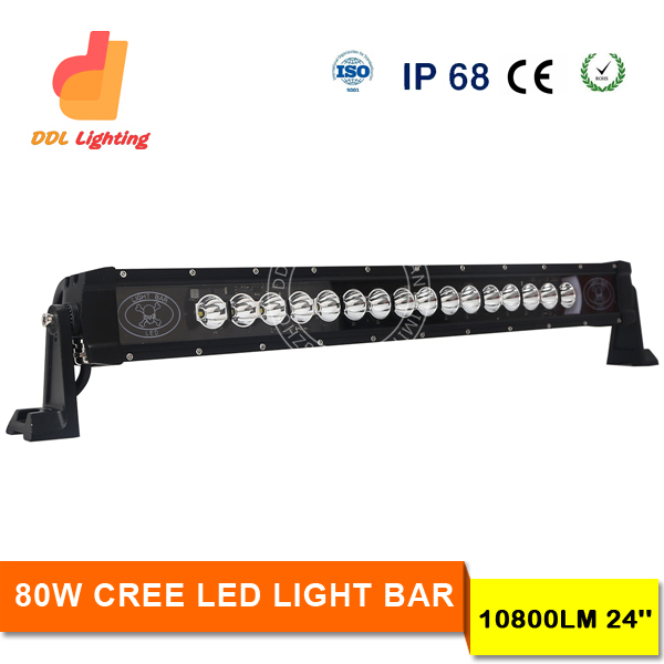 Hot selling in Canada US market single row straight 80w 4x4 offroad wholesale led light bars off road white amber blue green red