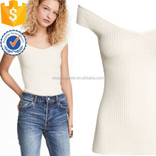 Off-the-shoulder Knitted Top Women Apparel Garment Clothing Adonors Para Ropa
