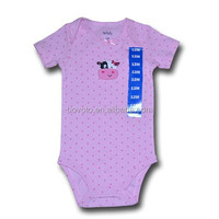 100% Cotton Baby breathable romper body suit Cartoon Custom Design Baby Romper