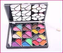 obsede 2015 fashionable shining colorful makeup eye shadow palette with makeup brush