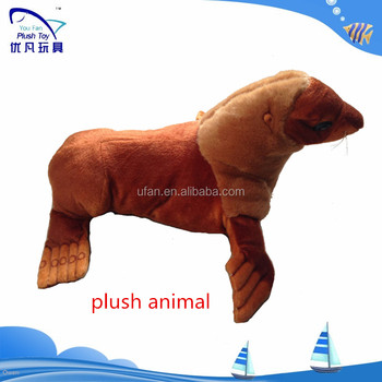 CUSTOM ocean simulate animal print plush stuffed long hair Sealion
