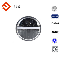 CE certificated Auto angel eyes motorcycle 12V LED 7 inch 20W headlight for Jeep