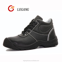 LG-6685 black steel toe cap safety shoes