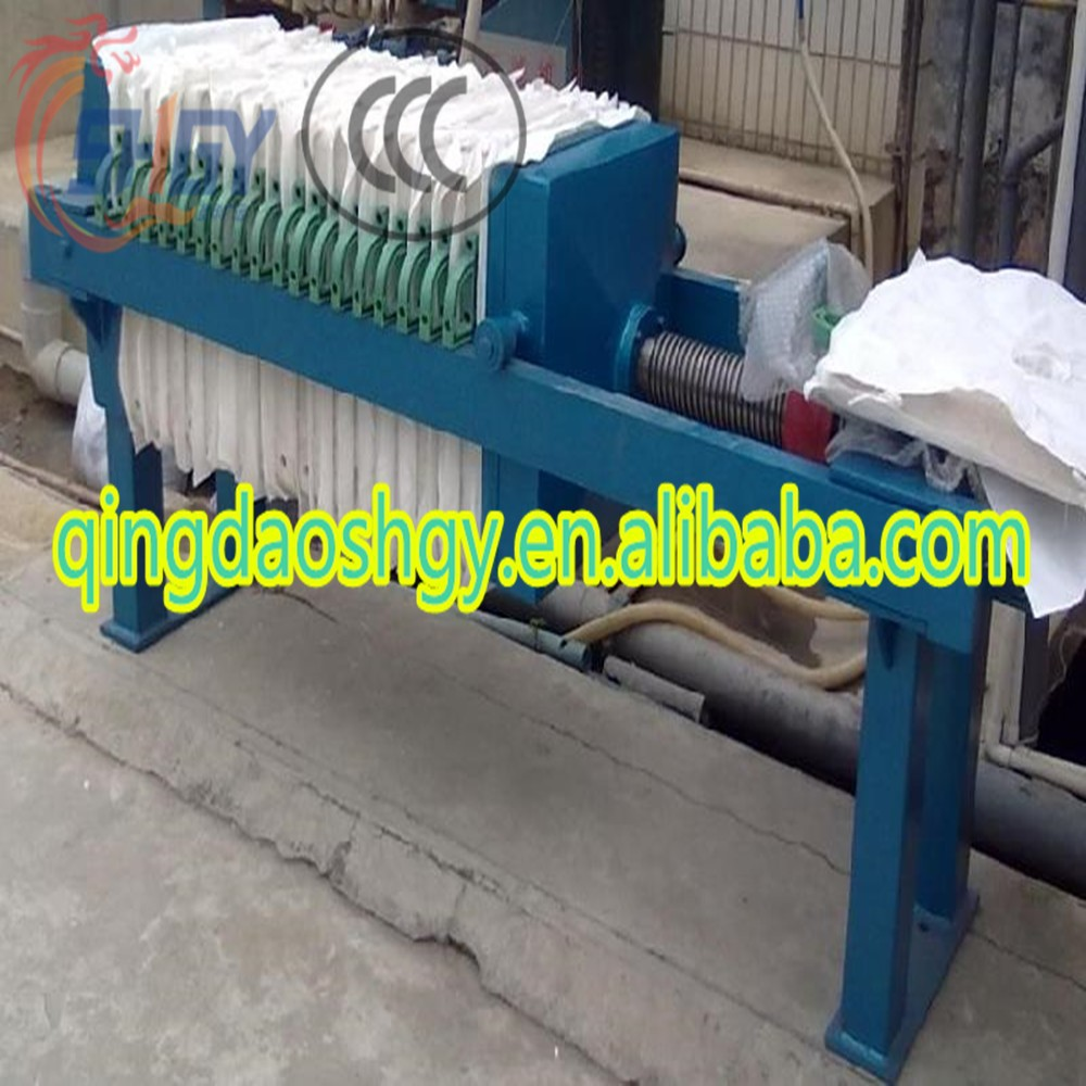 Frame /Plate Filter Press for sludge treatment , Cheap dewatering filter press