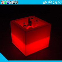 Used nightclub battery operated plastic vokdka bottle led lighting cube ice bucket