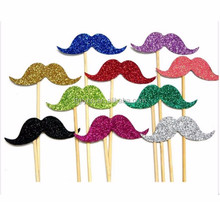 Wedding party DIY felt glitter material lips shape funny photo booth props
