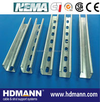 Perforated c strut steel channel