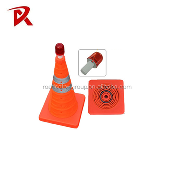 Best quality Retractable PVC Traffic Cone/Collapsible Traffic Cone/Folding Traffic Cone