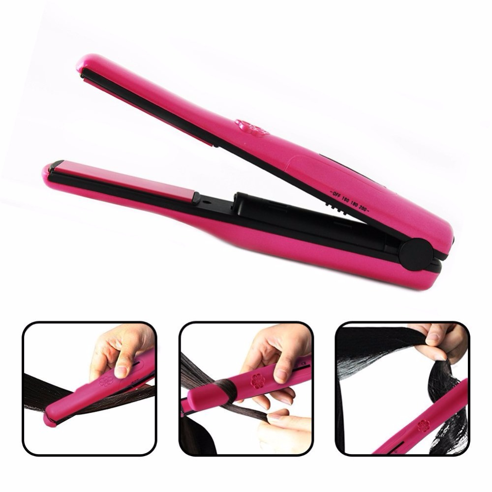 Portable Cordless Mini Hair Straightener Ceramic Iron Hair Curling and Straighter Tools