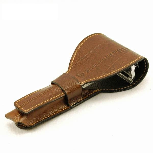 Shaving/safety razor leather pouch/case