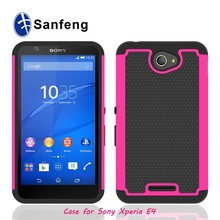 Hot Pink Skin Black Silicone Mobile Accessories Phone Cover for Sony Xperia E4 G M4 Aqua Cell Case