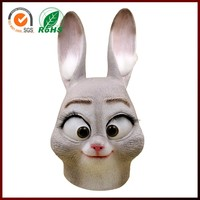 2016 Movie Fetish Sexy Female Women Wholesale Masquerade Latex Rabbit Mask