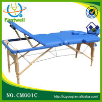 folding massage table/2 section woodern massage table facial bed