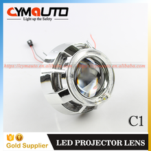 CYMAUTO double led halo rings bi xenon projector lens headlight