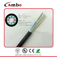 UV protected non-matallic armoured multi pairs SM/MM fiber optic cable fiber optic lighting