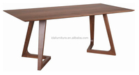 solid american ash oak walnut wood rectangular table