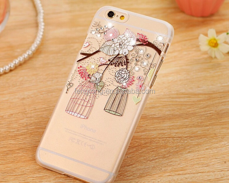 Bird Cage Diamond phone case for iphone 6 case