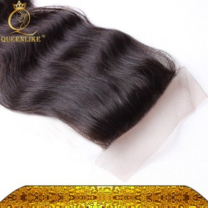 Black Women African American Natural Color Virgin Remy Human Hair Extension Body Wave 100% natural human hair lace top closure