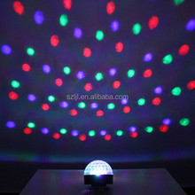 AC85~260V EU Plug 3W RGB LED Light Magic Spinning Ball