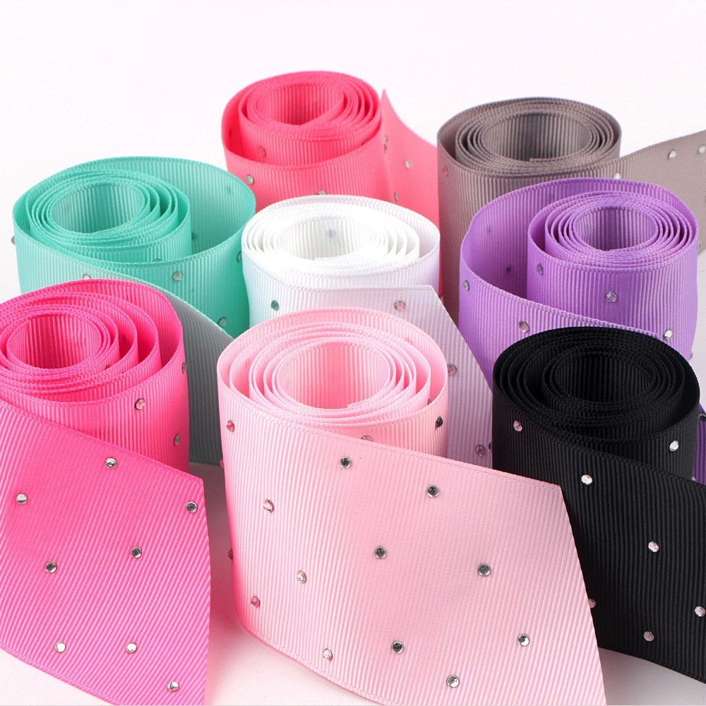 Wholesale 100% Polyester Solid Grosgrain Ribbon