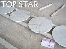 Polished Bianco Carrara White Marble Round Tables