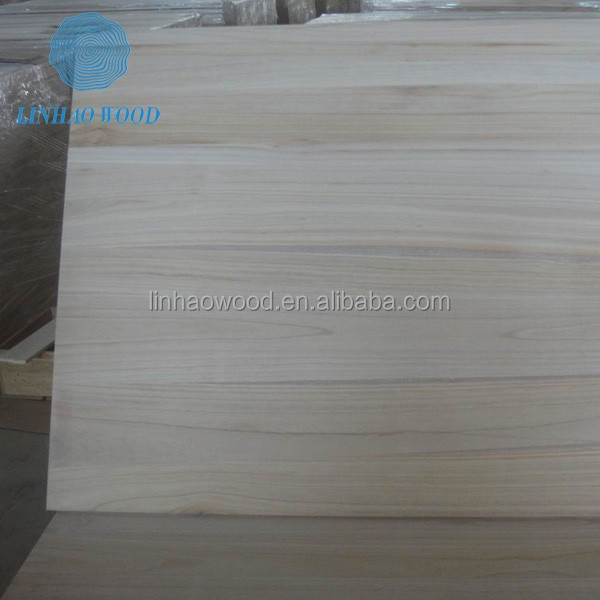 Furniture Edge Glued Paulownia Wood Boards