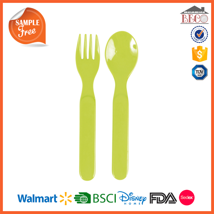 Food Grade BPA Free Melamine Plastic Spoons Forks And Knives