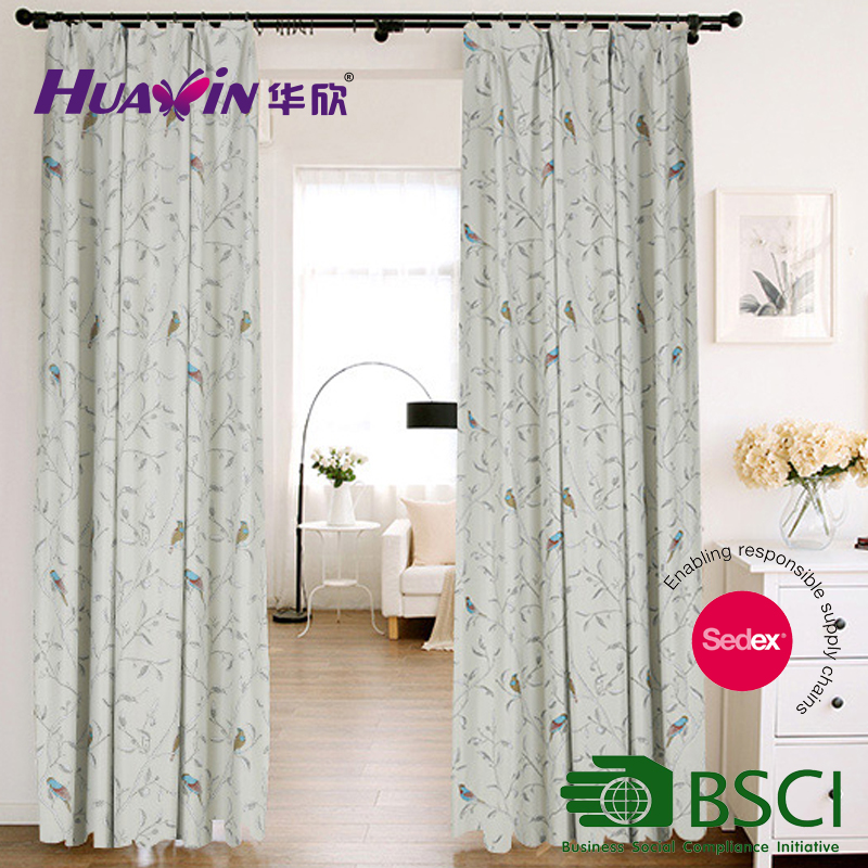 China supplier latest design pringting curtain fabric,readymade curtain printing design window curtain
