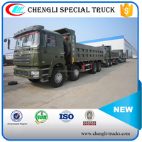 china factory 60 tons loading 30cbm dump body 12 wheels 8*4 type 375hp shacman tipper truck